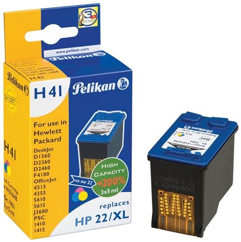 Pelikan inktcartridge 3 kleuren, 415 pagina's voor HP 22XL - OEM: C9352CE