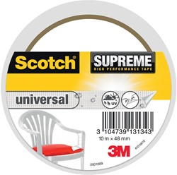 Scotch Supreme reparatietape Universal, ft 48 mm x 10 m, wit