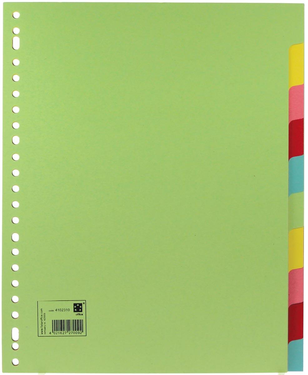 5 Star tabbladen 10 tabs, ft A4 maxi