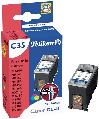 Pelikan inktcartridge 3 kleuren, 308 pagina's voor Canon CL-41 - OEM: 0617B001