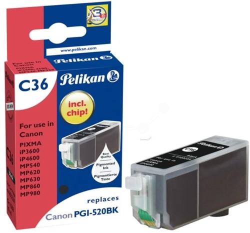 Pelikan inktcartridge zwart, 324 pagina's voor Canon PGI-520BK - OEM: 2932B001