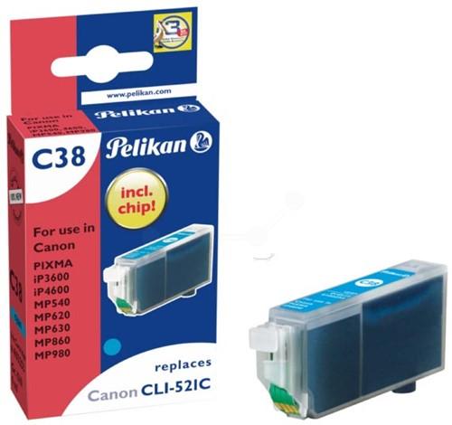 Pelikan inktcartridge cyaan, 448 pagina's voor Canon CLI-521C - OEM: 2934B001