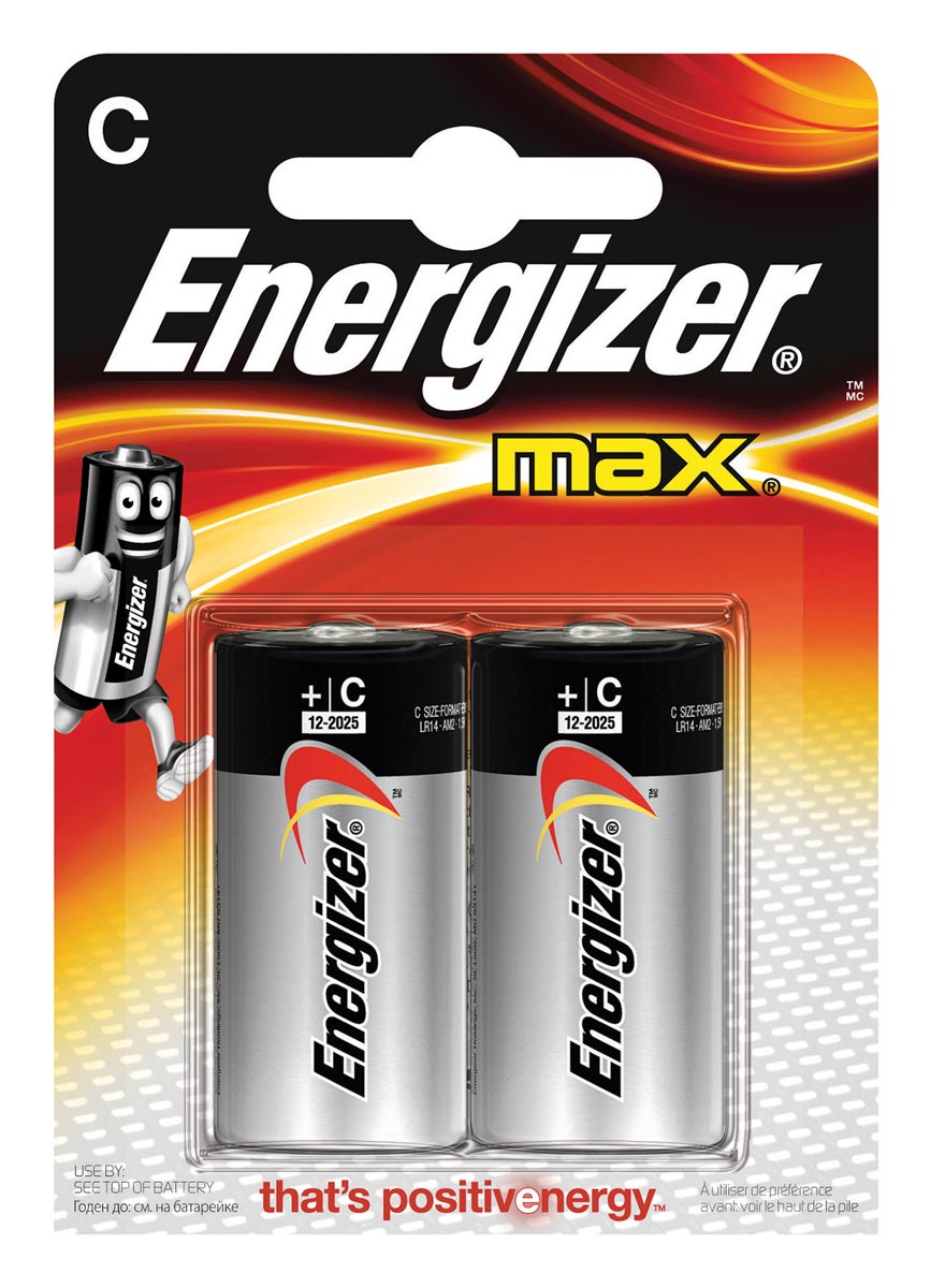 Energizer C batterij (Baby) Alkali-mangaan 1.5 V 2 stuks