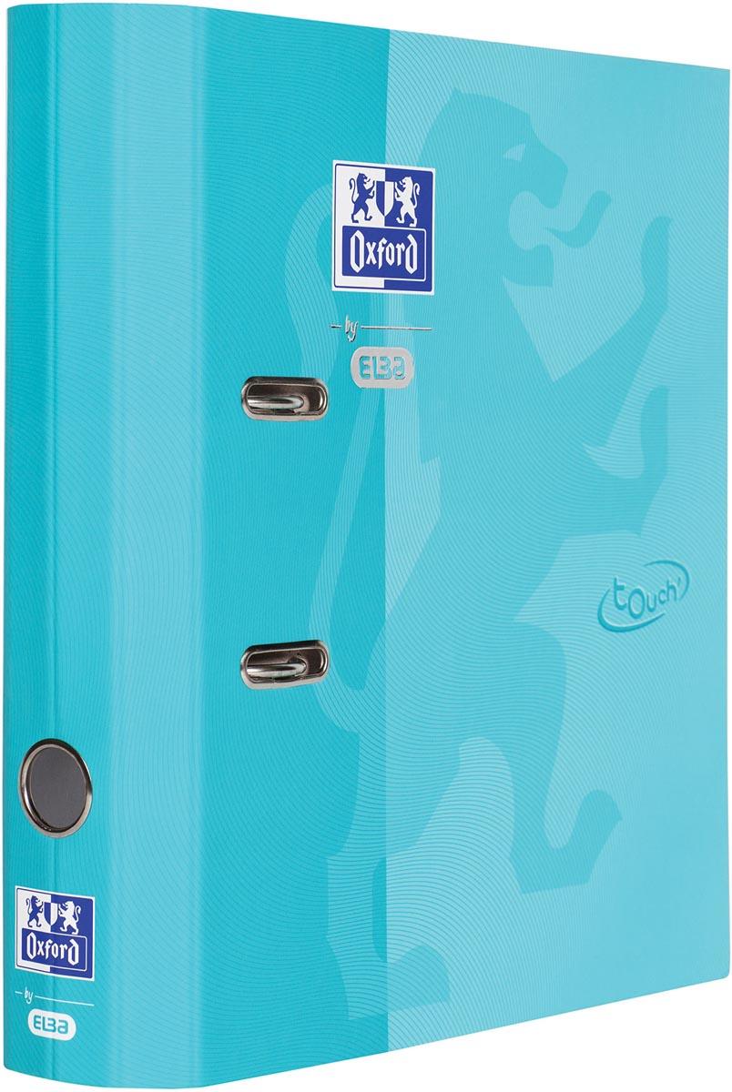Oxford Touch ordner uit karton, voor ft A4, rug van 8 cm, aqua