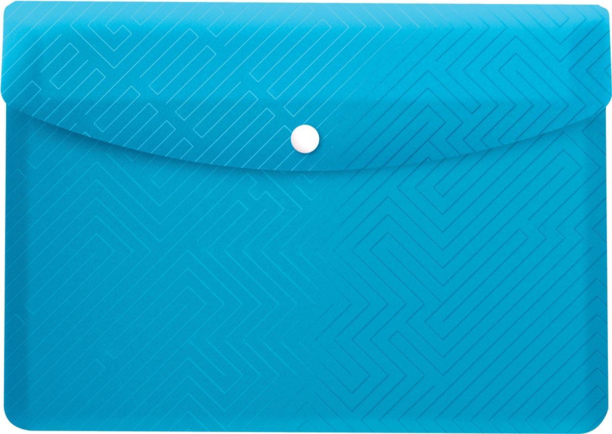 Elba Urban documentenmap, ft A5, uit PP, transparant blauw, pak van 5 stuks