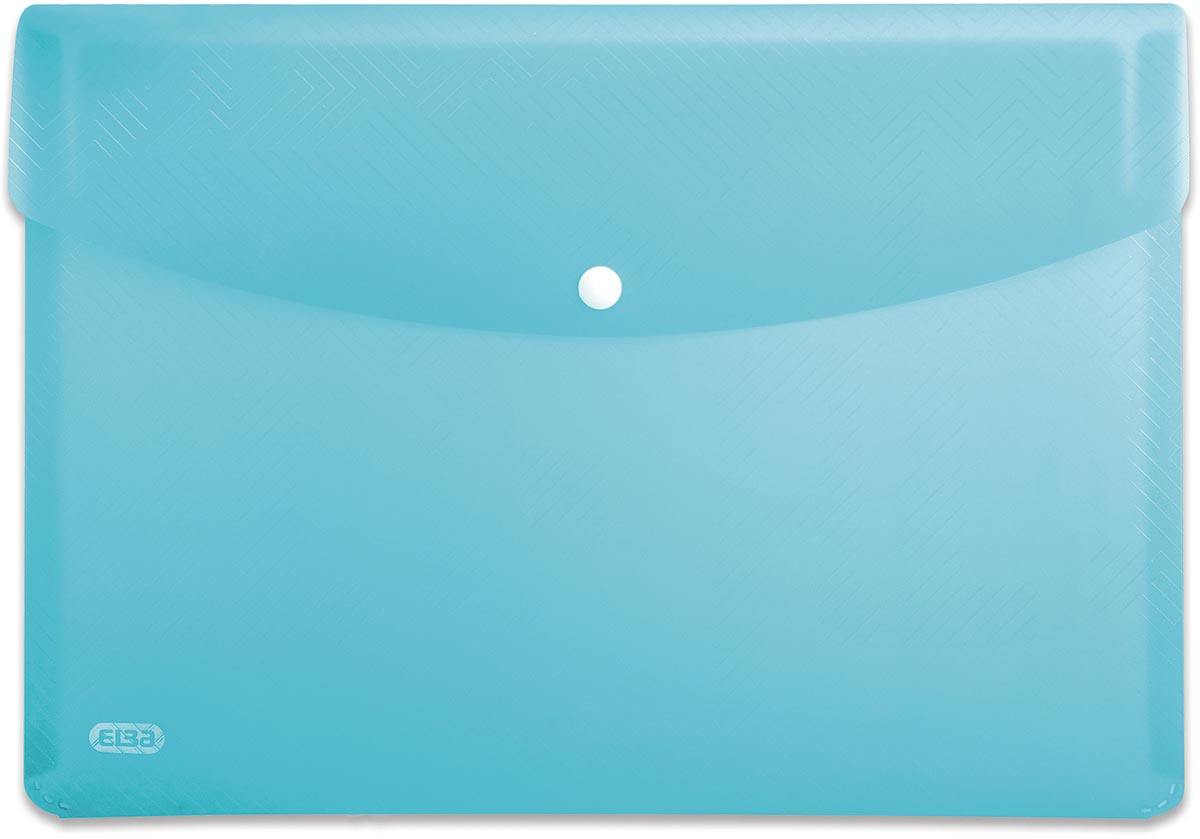 Elba Urban documentenmap, ft A4, uit PP, transparant blauw, pak van 5 stuks