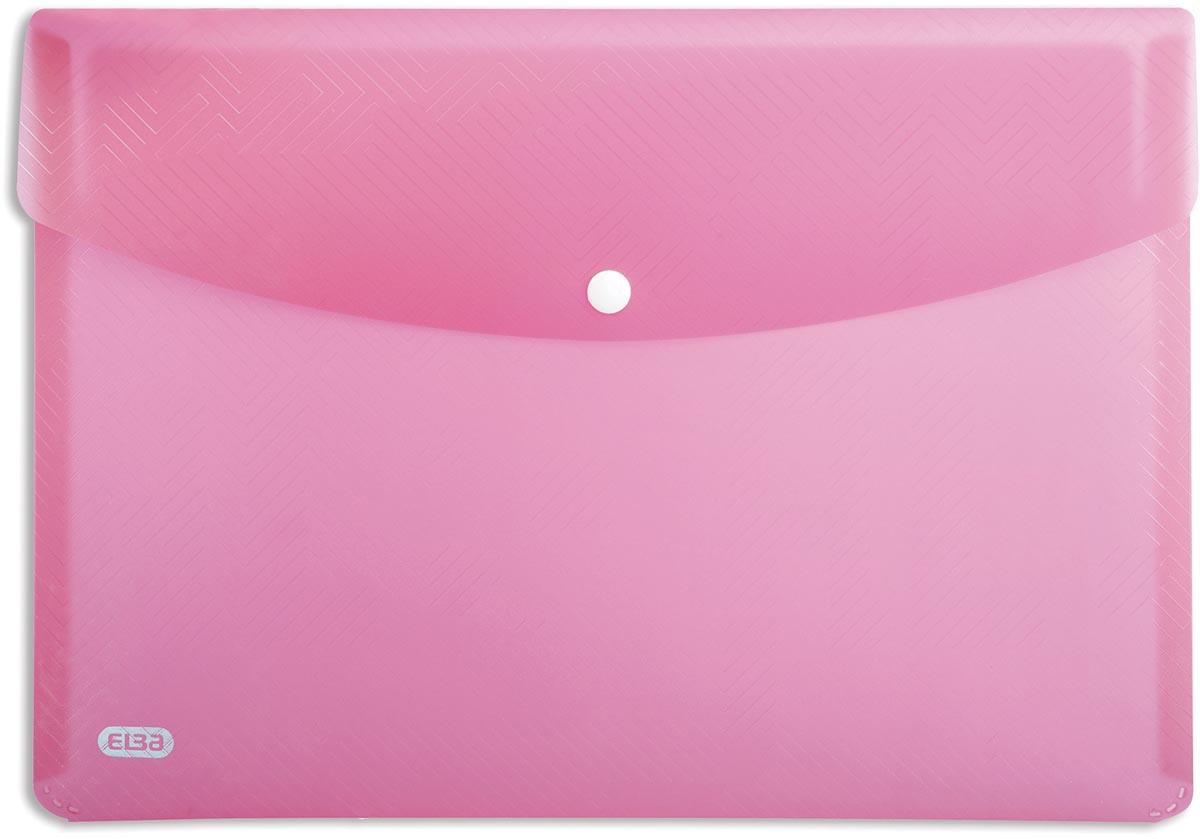 Elba Urban documentenmap, ft A4, uit PP, transparant roze, pak van 5 stuks