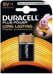 Duracell batterij Plus Power 9V, op blister