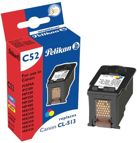 Pelikan inktcartridge 3 kleuren, 349 pagina's voor Canon CL-513 - OEM: 2971B001