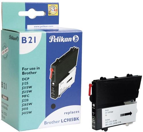 Pelikan inktcartridge zwart, 300 pagina's voor Brother - OEM: LC985BK