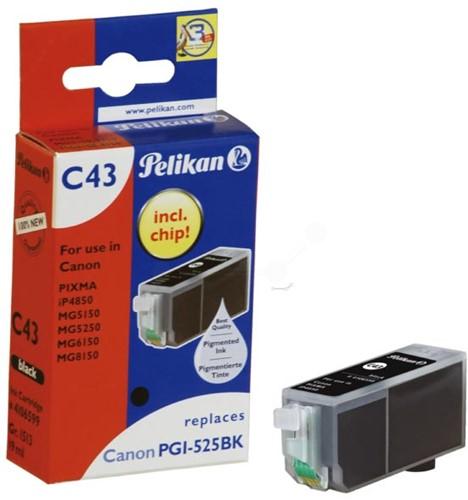 Pelikan inktcartridge foto zwart, 311 pagina's voor Canon PGI-525PGBK - OEM: 4529B001