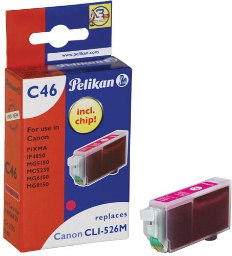 Pelikan inktcartridge magenta, 520 pagina's voor Canon CLI-526M - OEM: 4542B001