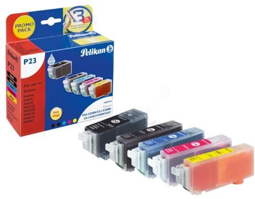 Pelikan inktcartridge 5 kleuren, 300 - 2185 pagina's voor Canon PGI-525 en CLI-526