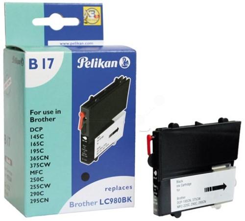 Pelikan inktcartridge zwart, 300 pagina's voor Brother - OEM: LC980BK