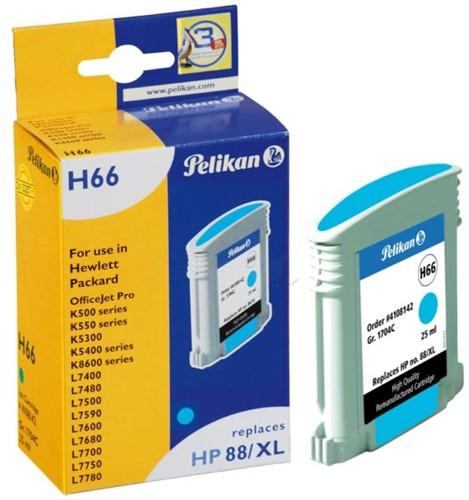 Pelikan inktcartridge cyaan, 1700 pagina's voor HP 88XL - OEM: C9391AE