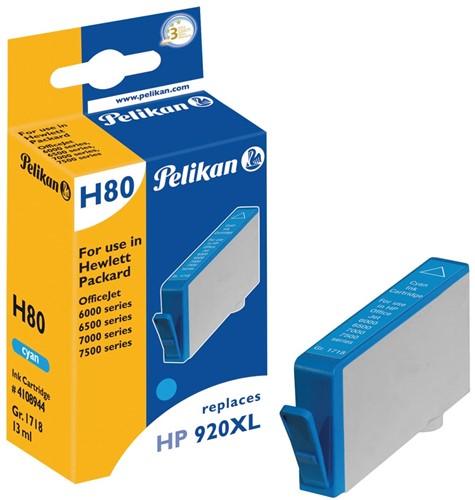 Pelikan inktcartridge cyaan, 700 pagina's voor HP 920XL - OEM: CD972AE