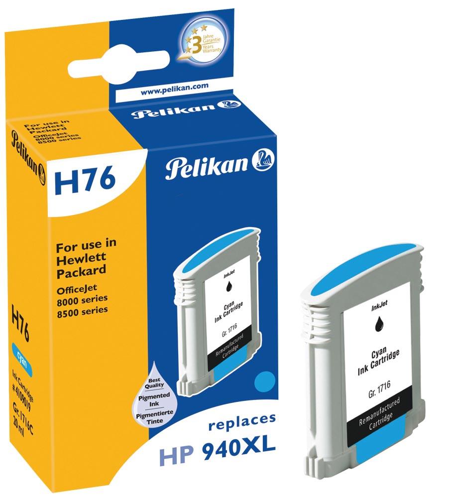 Pelikan inktcartridge cyaan, 1400 paginas voor HP 940XL - OEM: C4907AE