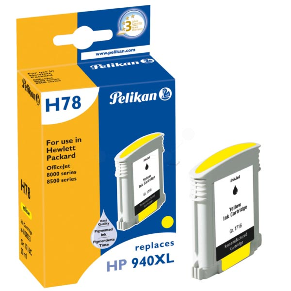 Pelikan inktcartridge geel, 1400 paginas voor HP 940XL - OEM: C4909AE