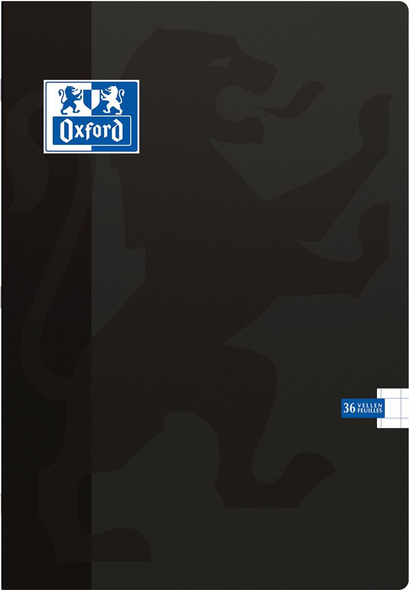 Oxford School schrift, ft A4, 72 bladzijden, met kantlijn, geruit 10 mm, zwart