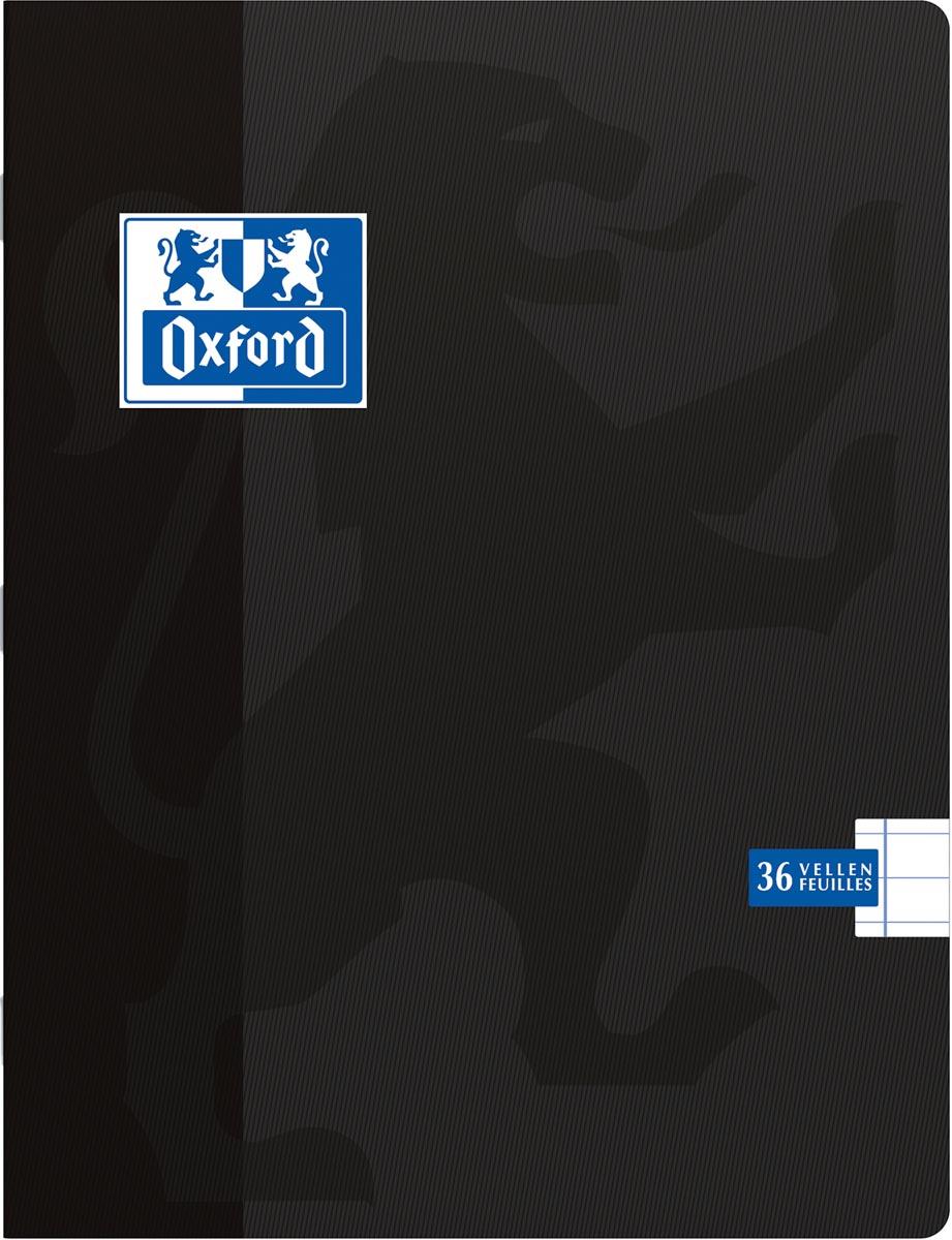 Oxford School schrift, ft A5, 72 bladzijden, met kantlijn, gelijnd, zwart