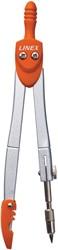 Linex schoolpasser 950, 3 -delig, in een ophangdoosje, in geassorteerde kleuren