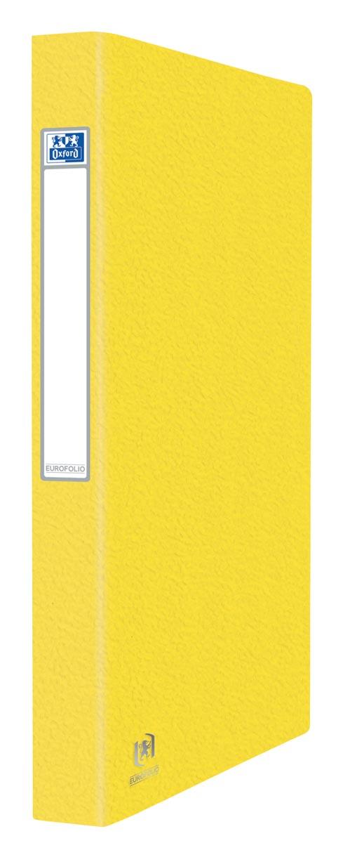 Elba Oxford Eurofolio ringmap, voor ft A4, 2 ringen, geel