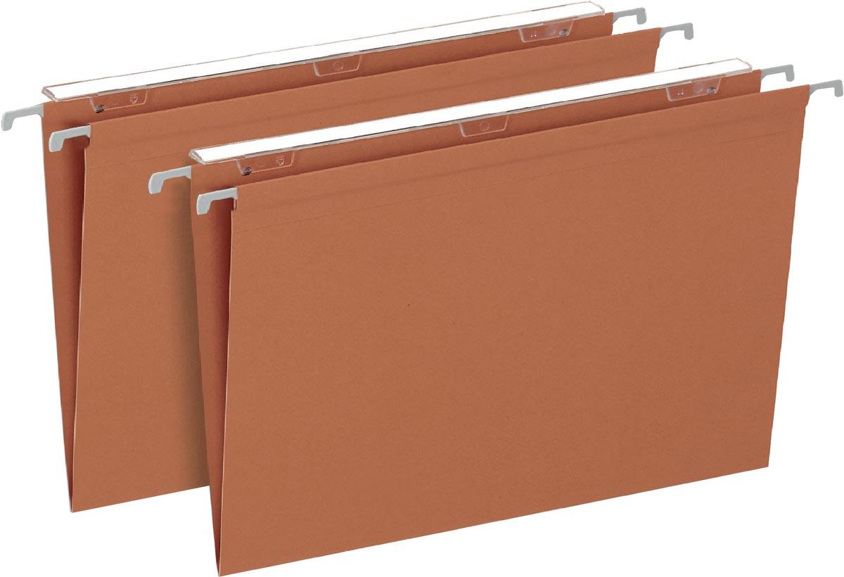 Pergamy Defi hangmap foolscap, V-bodem, oranje, pak van 25 stuks