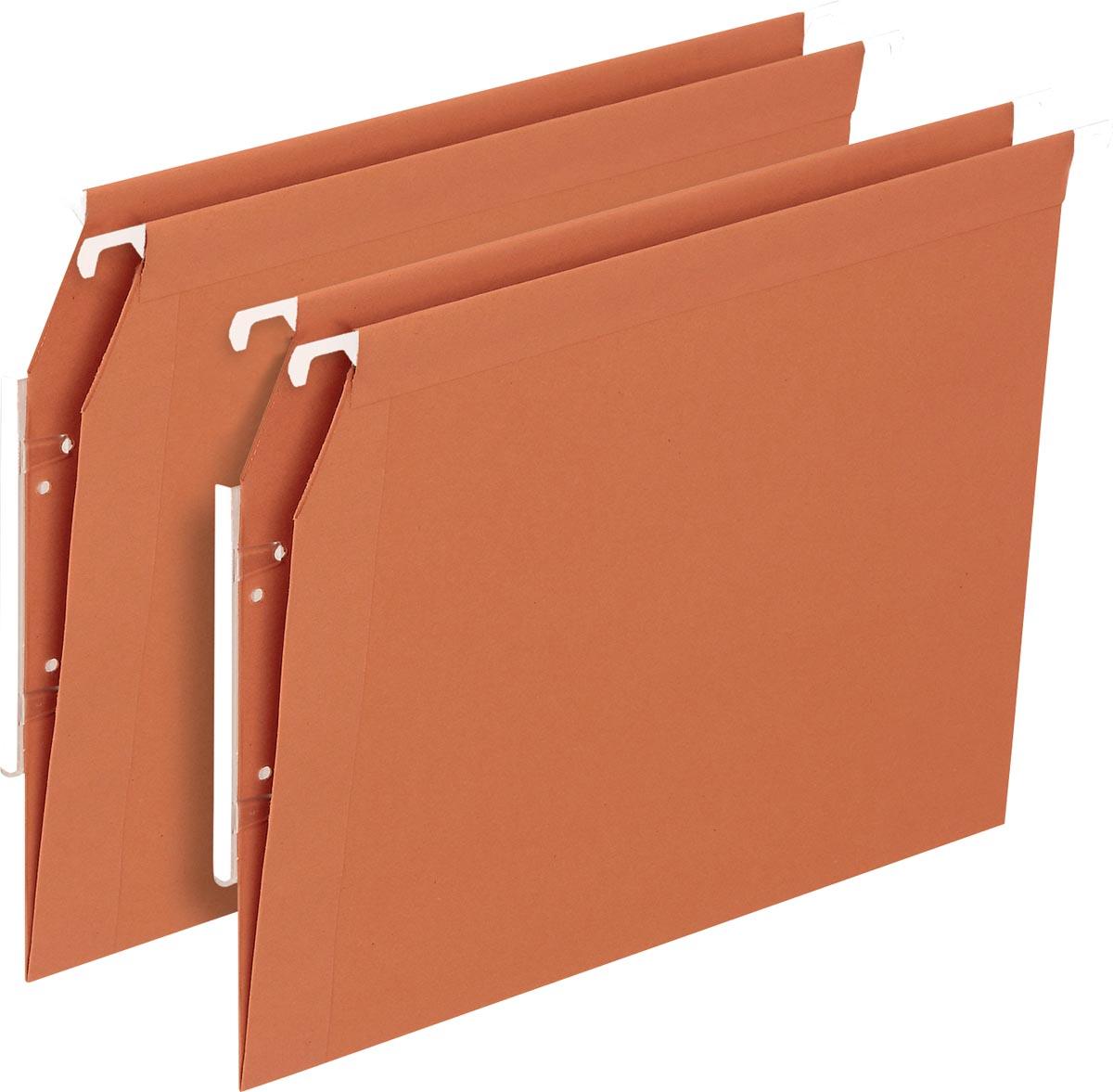 Pergamy Defi hangmap voor kasten, ft A4, V-bodem, oranje, pak van 25 stuks