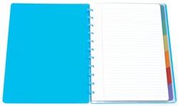 Atoma schrift met tabbladen Trendy ft A4, gelijnd, geassorteerde kleuren