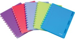 Atoma schrift met tabbladen Trendy ft A4, commercieel geruit, geassorteerde kleuren