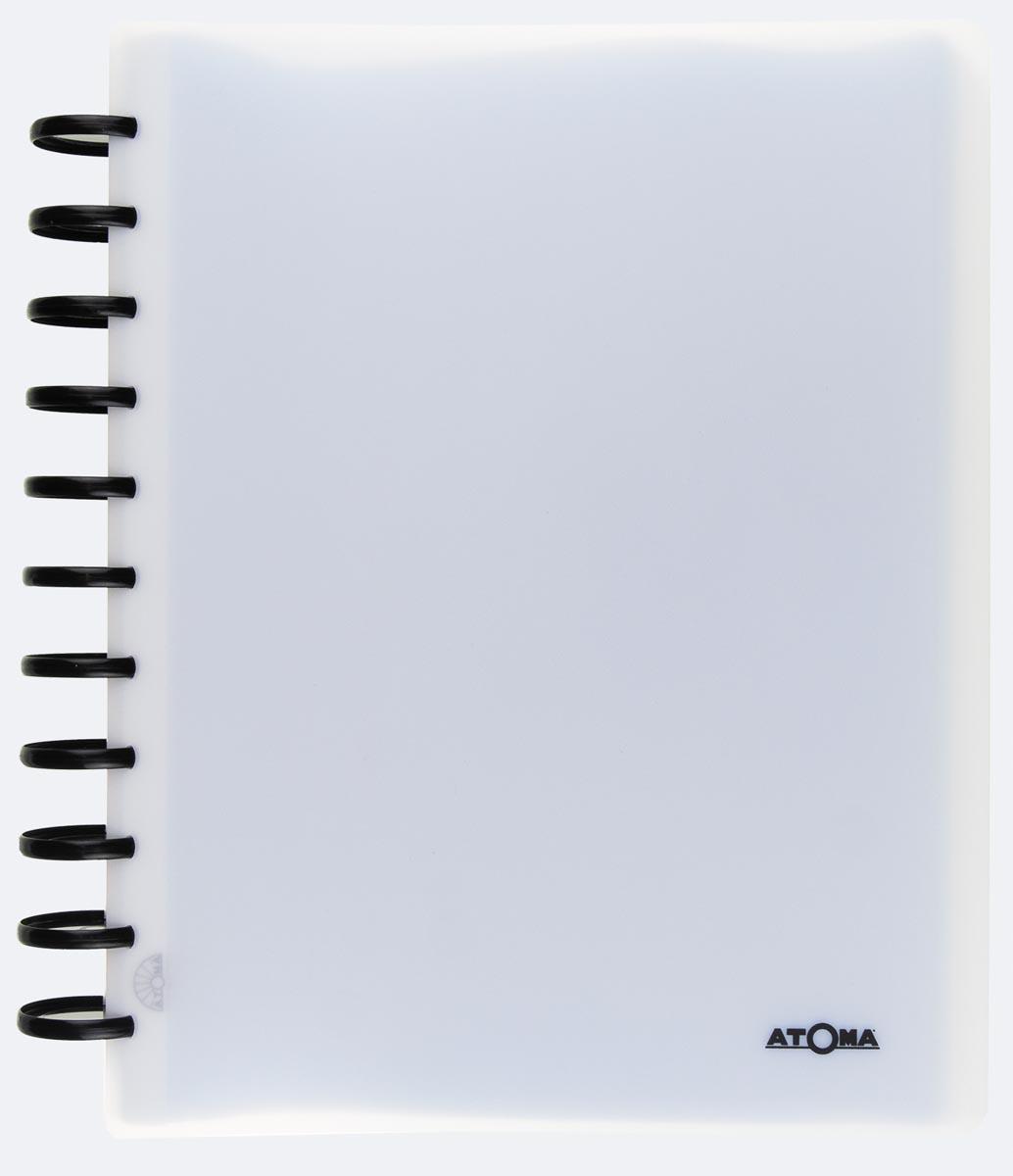 Atoma showalbum, voor ft A4, uit PP, met 100 tassen, geassorteerde kleuren