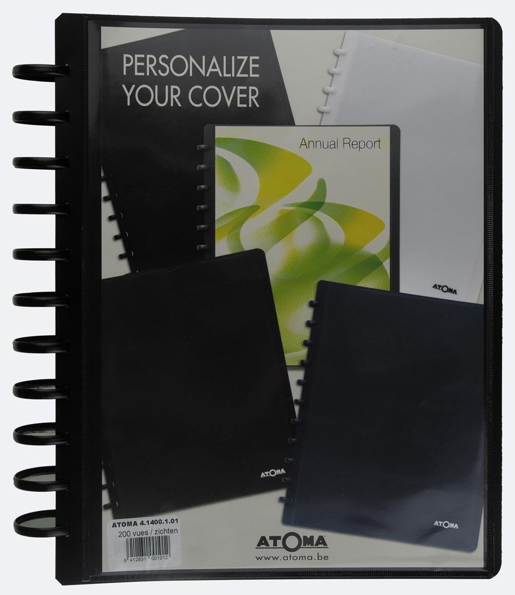 Atoma showalbum, voor ft A4, uit PP, met 100 tassen, personaliseerbaar