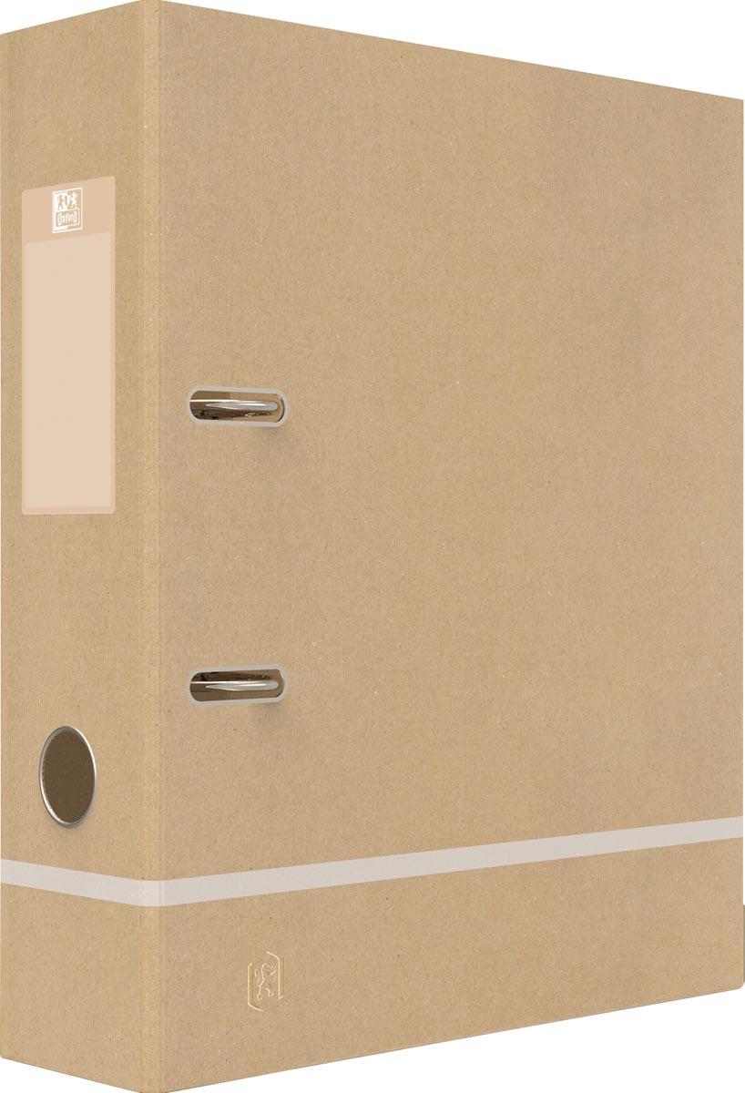 Oxford ordner Touareg, ft A4, uit karton, rug van 8 cm, naturel en wit