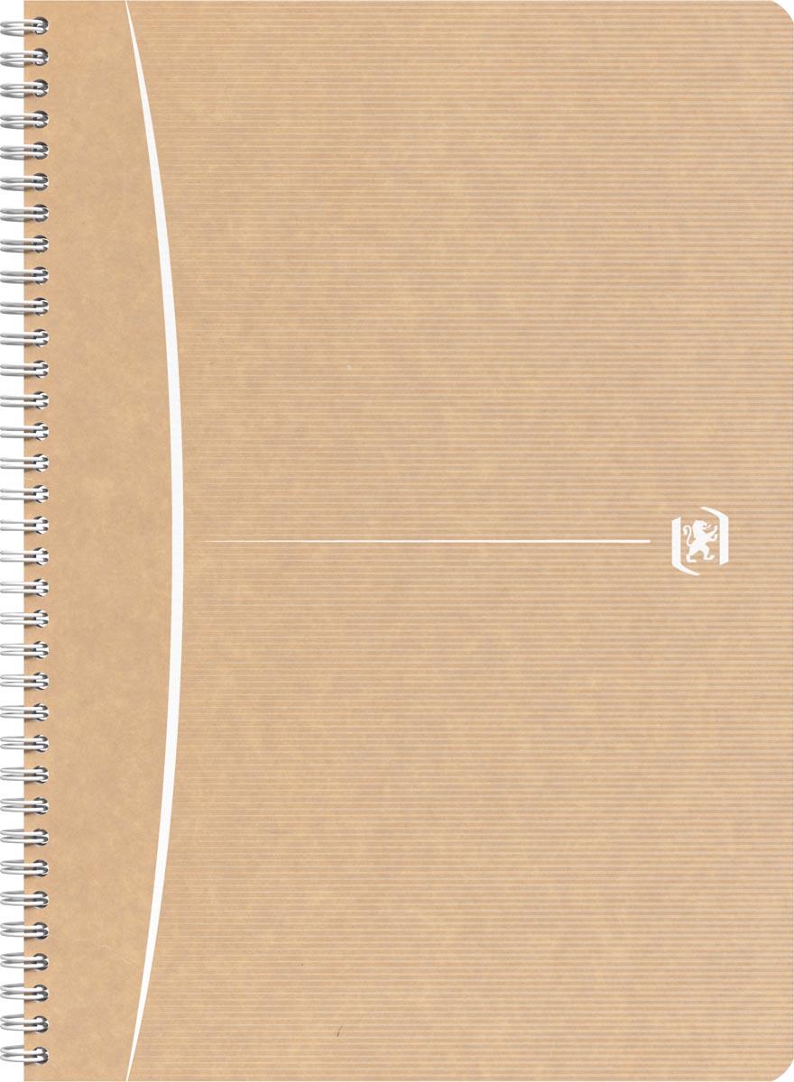 Oxford Touareg spiraalschrift, 180 bladzijden, ft A4, geruit 5 mm, wit