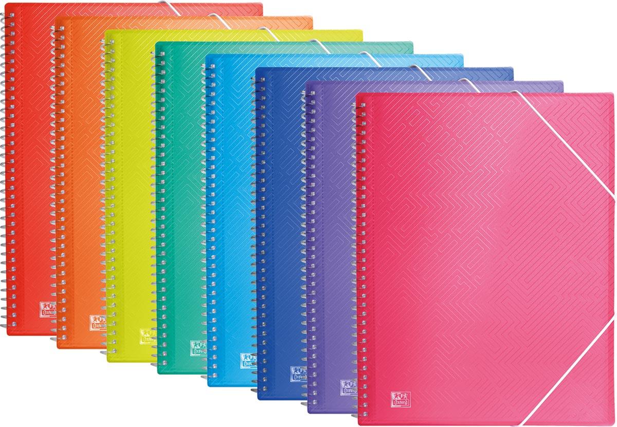 Oxford Urban presentatiealbum 40 tassen met elastosluiting, geassorteerde transparante kleuren