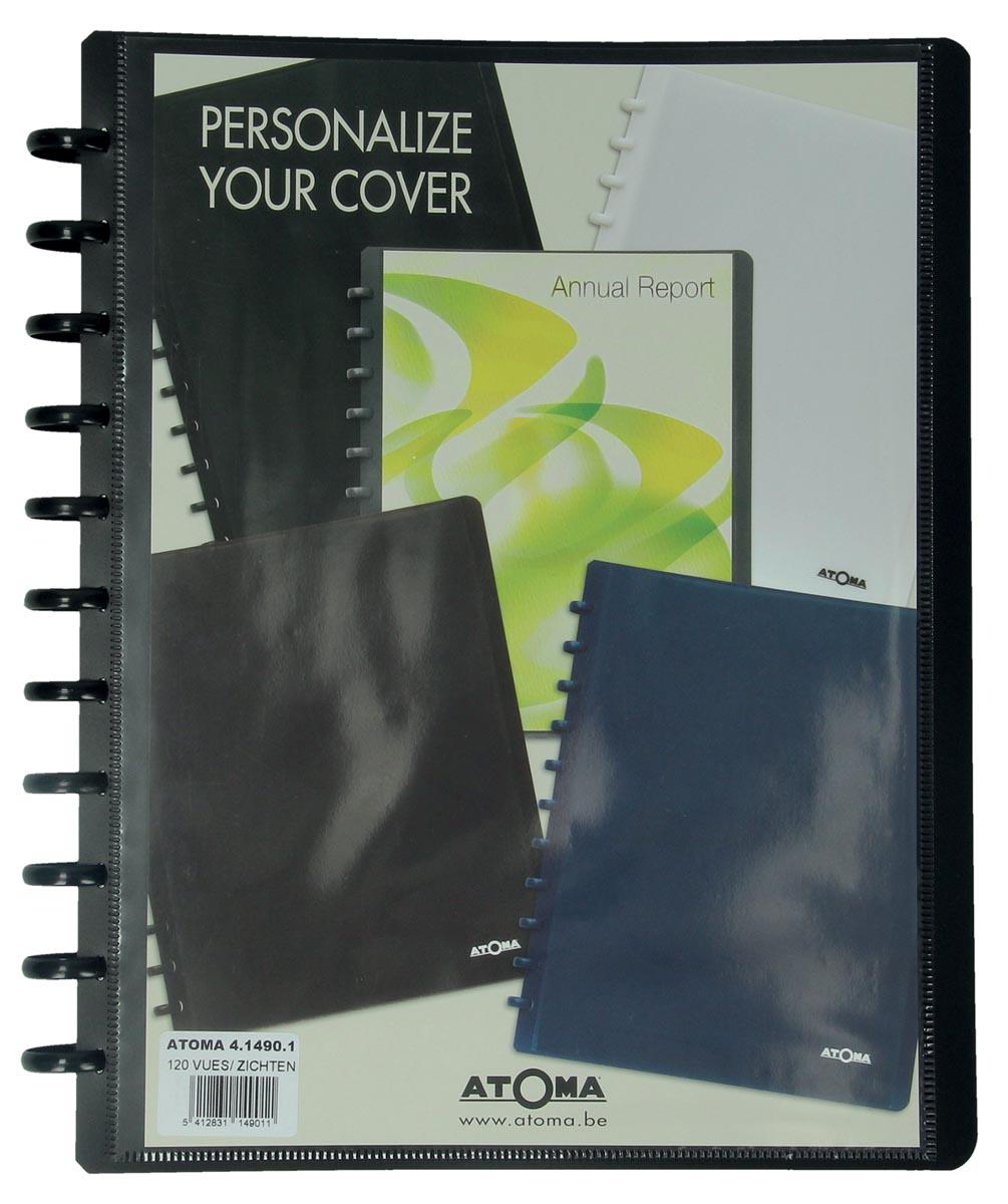 Atoma showalbum, voor ft A4, uit PP, met 60 tassen, personaliseerbaar