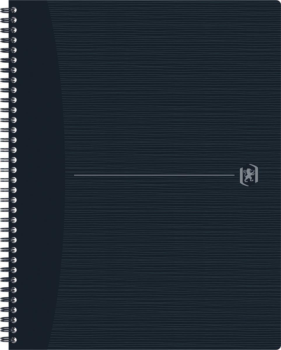 Oxford Origin spiraalschrift, ft A4+, 140 bladzijden, geruit 5 mm, zwart