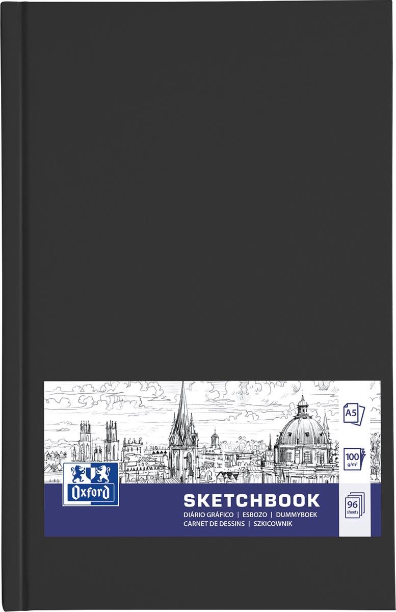 """Oxford """"Sketchbook"""" dummyboek, 96 vel, 100 g/m², ft A5, zwart"""