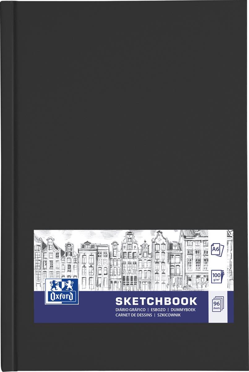 """Oxford """"Sketchbook"""" dummyboek, 96 vel, 100 g/m², ft A6, zwart"""