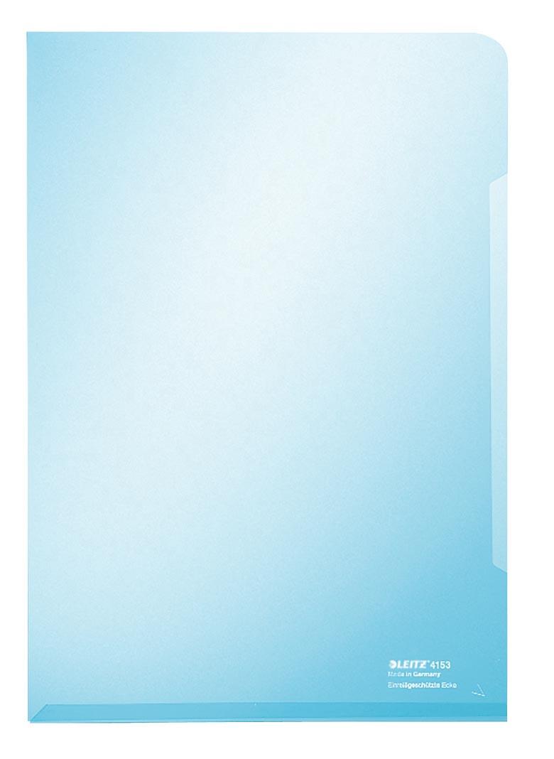 Leitz L-map Met versterkte geplakte rand aan onderzijde voor stijlvolle uitstraling. Kleur: blauw