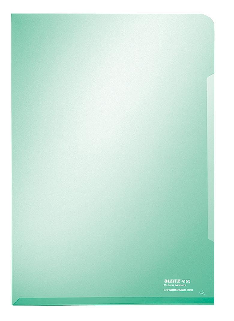 Leitz L-map Met versterkte geplakte rand aan onderzijde voor stijlvolle uitstraling. Kleur: groen