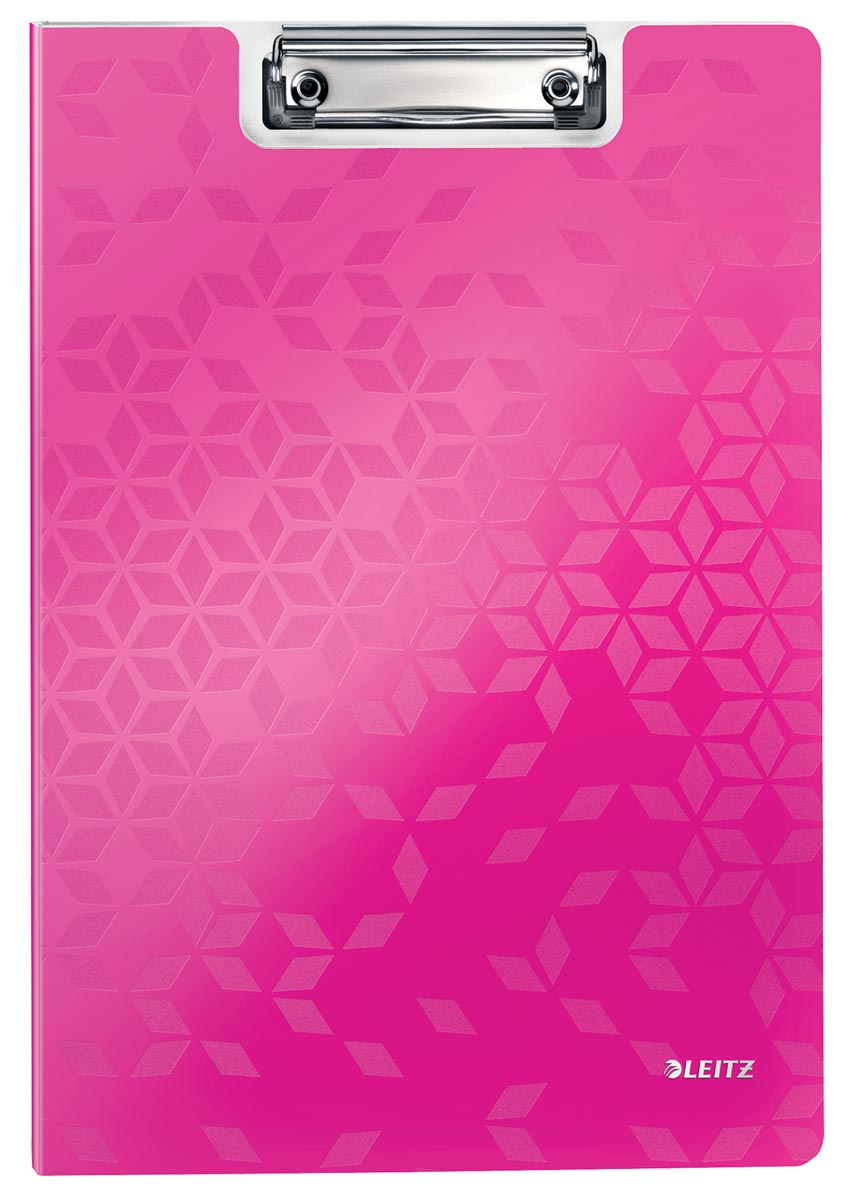 Leitz WOW klemmap met omslag, ft A4, roze