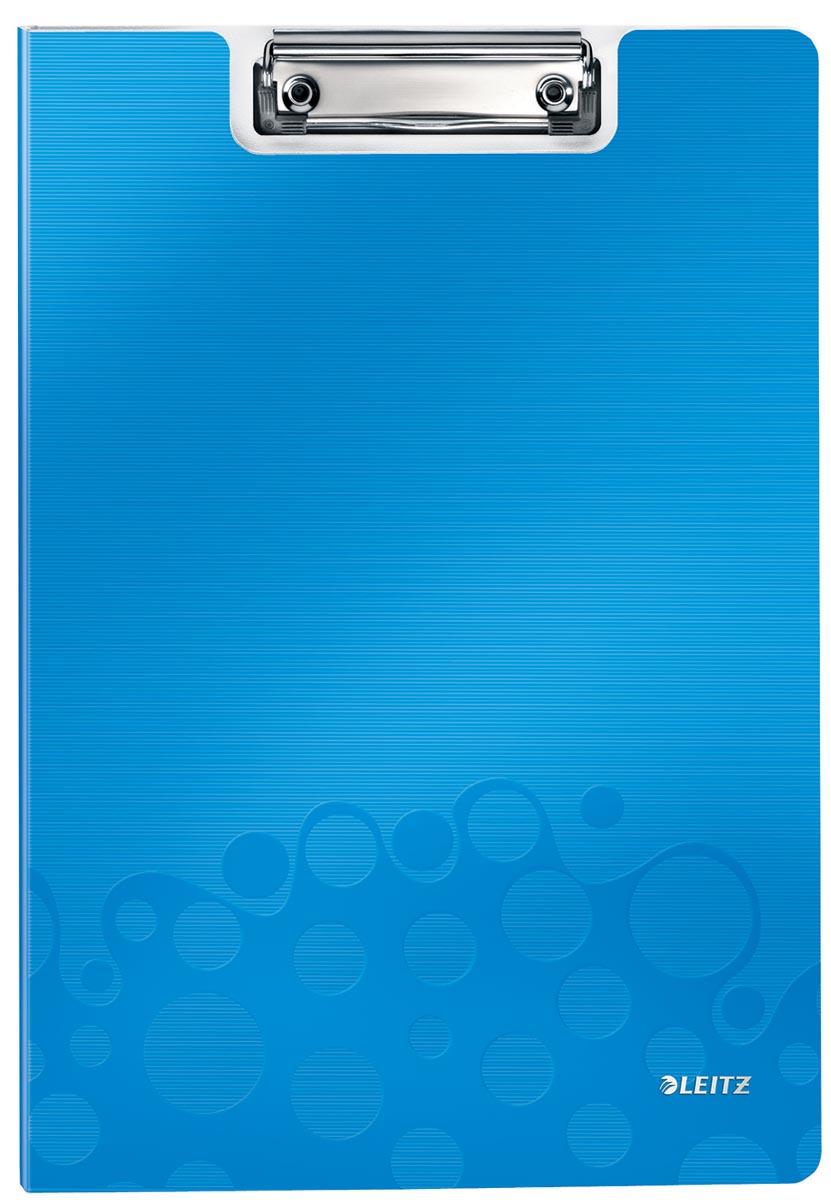 Leitz WOW klemplaat met omslag, ft A4, blauw