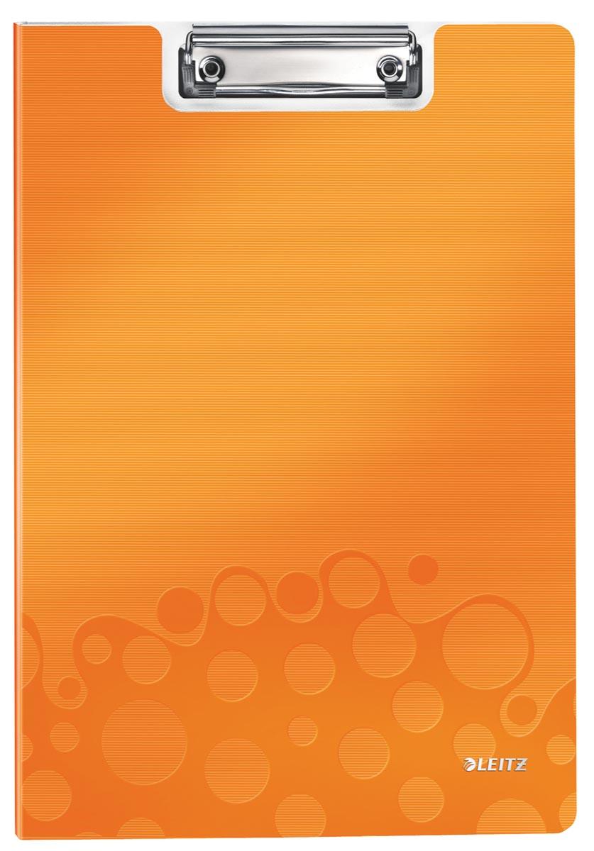 Leitz WOW klemplaat met omslag, ft A4, oranje