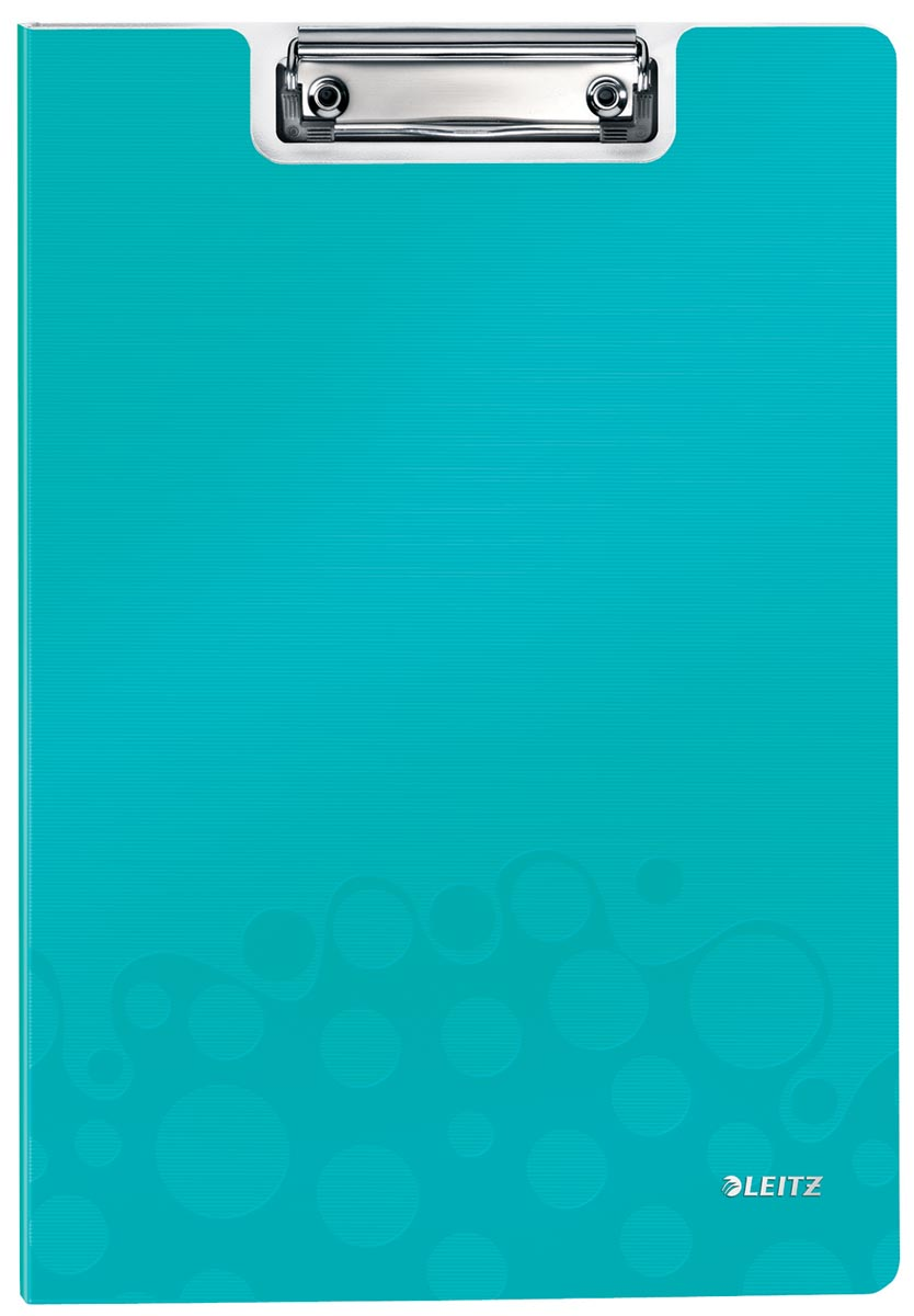 Leitz WOW klemmap met omslag, ft A4, ijsblauw