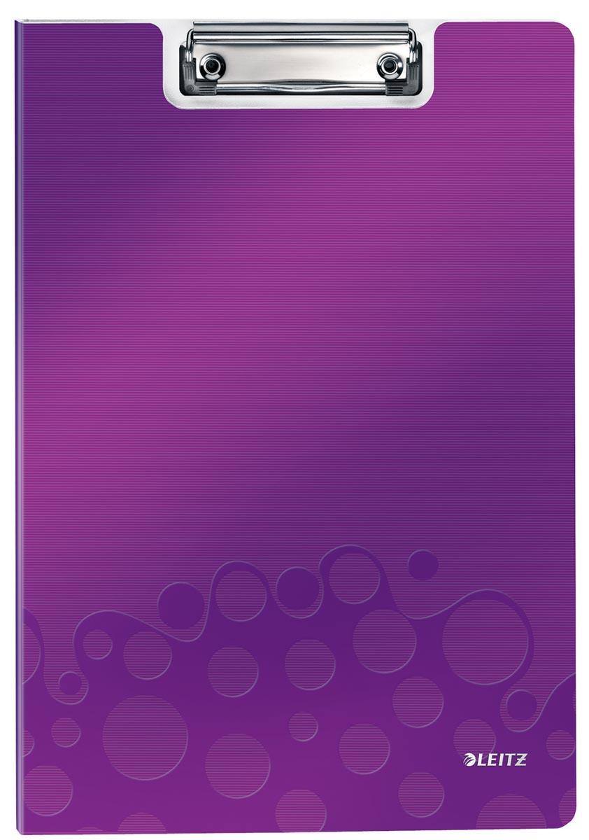 Leitz WOW klemplaat met omslag, ft A4, paars