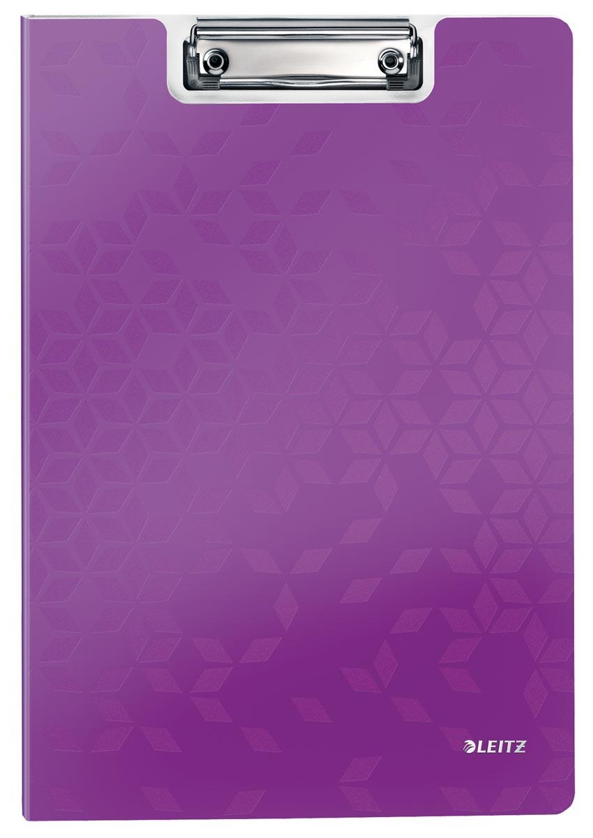 Leitz WOW klemmap met omslag, ft A4, paars