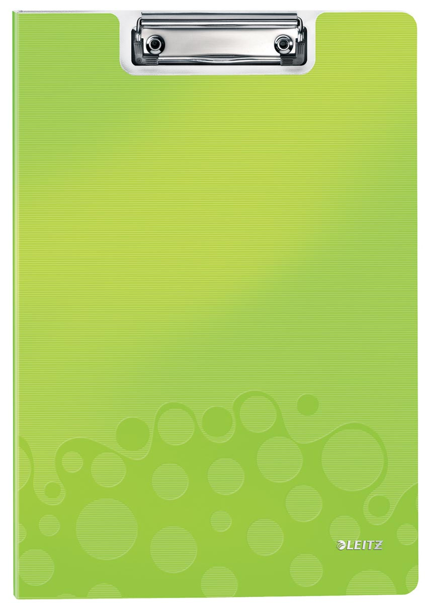 Leitz WOW klemplaat met omslag, ft A4, groen