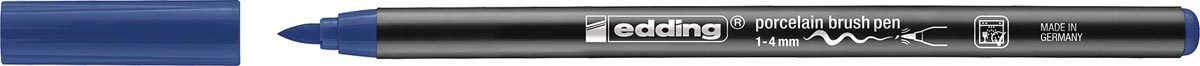 Edding porselein penseelstift e-4200, staalblauw