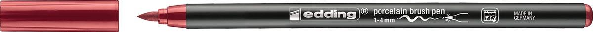 Edding porselein penseelstift e-4200, karmijn